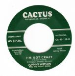 "45Re ✦ JOHNNY WATSON ✦ ""I'm Not Crazy / Let's Rock"" Superb Rockabilly 2 Sider ♫"